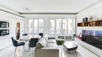 Création d'un living dans un appartement Parisien
