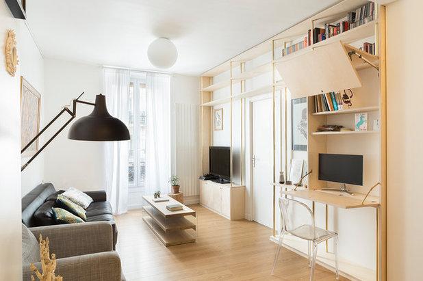 Contemporary Living Room by Lagom architectes