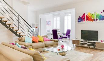 Duplex au centre-ville de Saint Etienne - salon et coin lecture