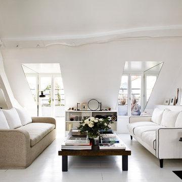 Duplex Parisien - Living Room