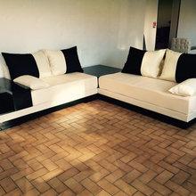 ealisation salon marocain - Minimalistisch - Wohnbereich ...