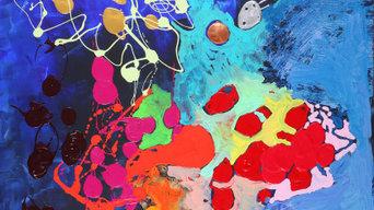 Eclosion( 198 x 130 cm) acrylique sur toile