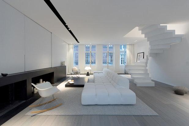 Contemporain Salon by mayelle architecture intérieure design