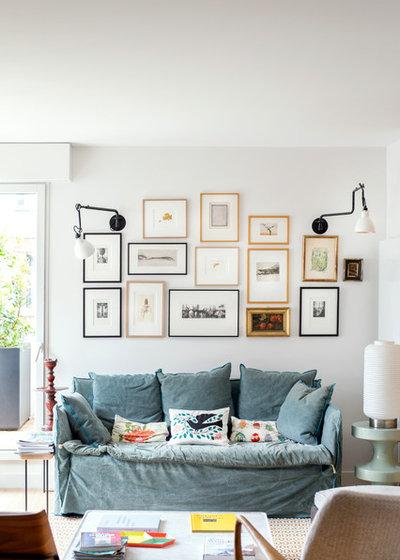 Eclectic Living Room by Architecte d'intérieur - Marion Dériot
