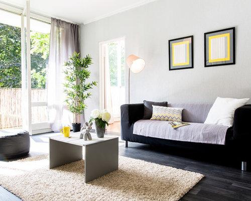Mauve Living Room Design Ideas Renovations Photos With