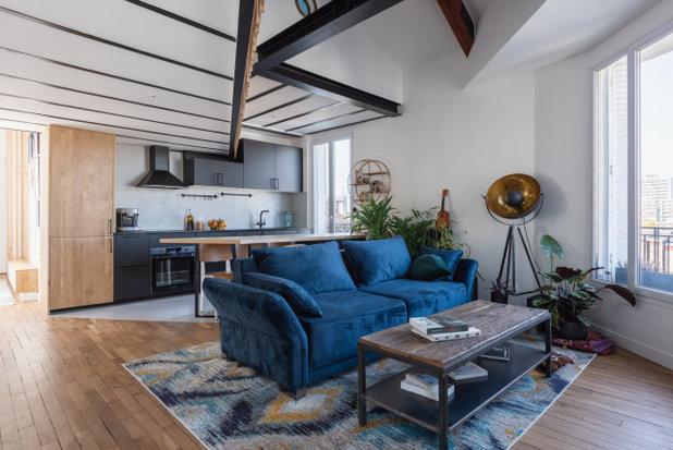 Contemporain Salon by KIDA ARCHITECTURE & DESIGN