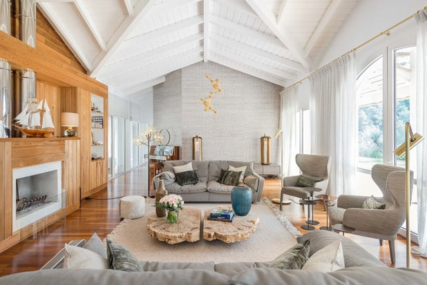 Beach Style Living Room by REFUGE