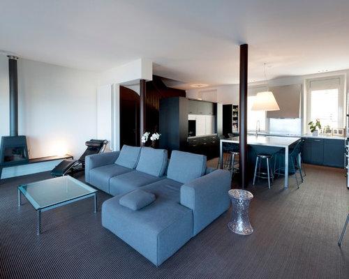 Deco salon avec poele meilleures images d 39 inspiration for Salon contemporain bois