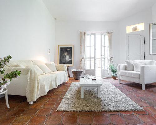 salon avec un sol en carreau de terre cuite photos et id es d co de salons. Black Bedroom Furniture Sets. Home Design Ideas