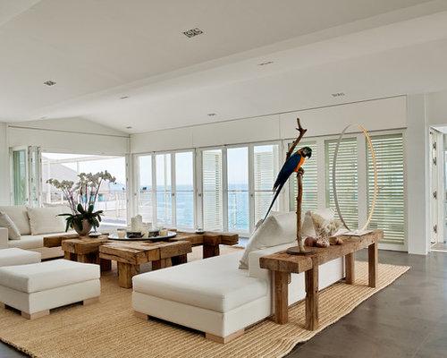 Maritime wohnzimmer in frankreich ideen design bilder - Maritimes wohnzimmer ...