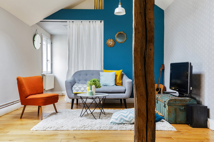 Eclectic Living Room by FOUR LIONS