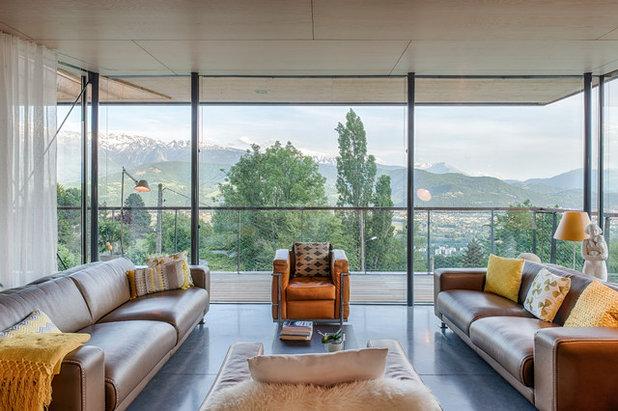 Contemporain Salon by R2K Architecte