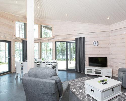 maison bois massif scandinave. Black Bedroom Furniture Sets. Home Design Ideas