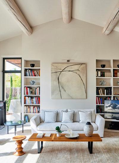 Contemporain Salon by Agence POBA - Pierre Olivier Brèche Architectures