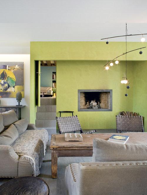Green living room design ideas renovations photos with for No tv living room ideas