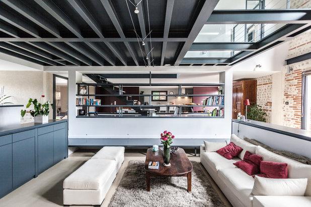 Industriel Salon by Hugues Tournier - Architecte HMONP