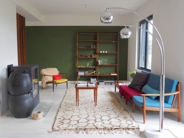Contemporain Salon by atelier d'architecture PILON & GEORGES