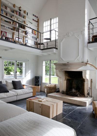 Éclectique Salon by Olivier Chabaud Architecte