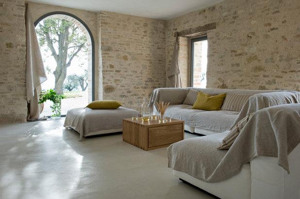 Country Living Room Méditerranéen Salon