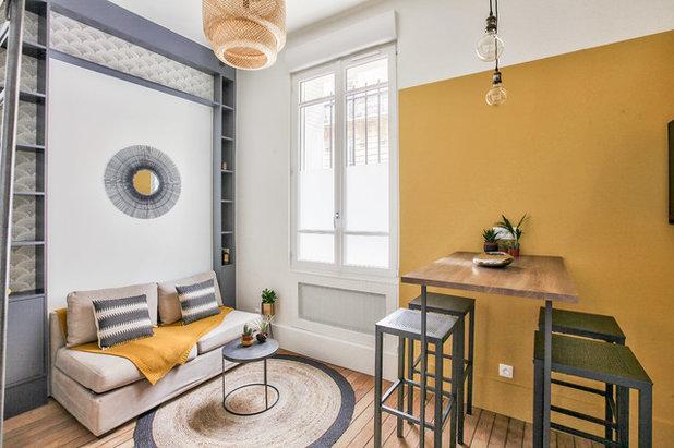 Couleur Dhiver Le Jaune Curry épice La Décoration - Formation decorateur interieur avec petit fauteuil moutarde