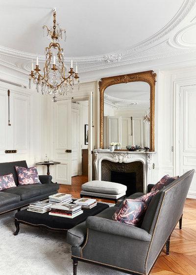 Traditional Living Room By A+B KASHA Designs