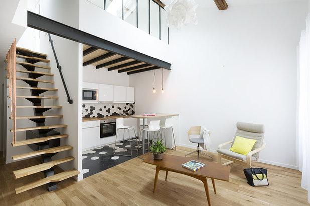 Contemporain Salon by Thomas Landemaine Architectes
