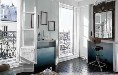 Vorher-Nachher: Pariser Microapartment im Ombré-Look