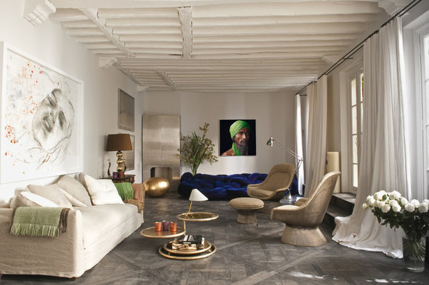 Eclectic Living Room by d.mesure - Elodie Sire