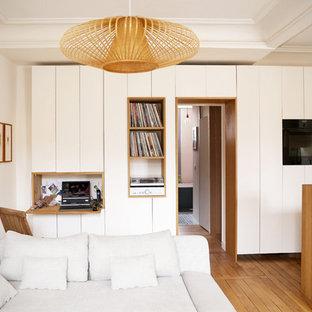 Inspiration pour un salon minimaliste.