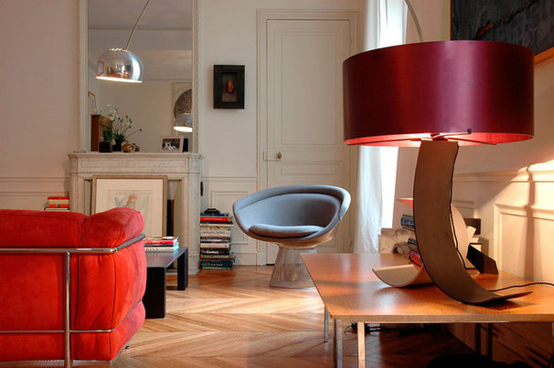 Contemporary Living Room by A+B KASHA Designs