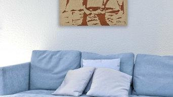 """""""Portrait de famille"""" - votre photo de famille sur... toile de lin"""