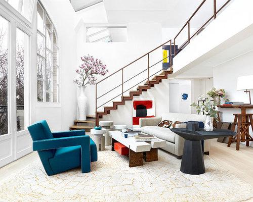 Awesome Deco Salon Avec Escalier Gallery - Ridgewayng.com ...
