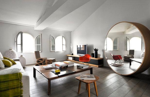Contemporain Salon by Adrien Champsaur Architecture