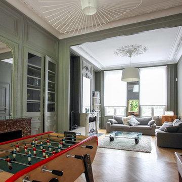 Réhabilitation d'une maison de maître - Salon classique chic
