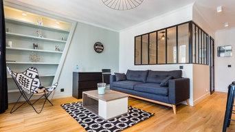 Rénovation d'un appartement avec verrière