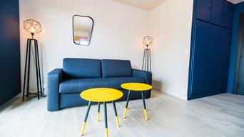Rénovation d'un appartement coloré à Paris
