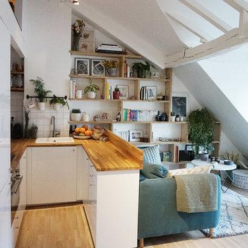 Rénovation d'un appartement de 55m² sous les toits