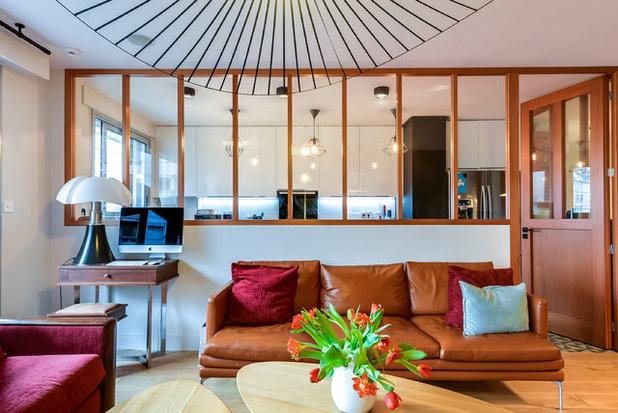 Contemporain Salon by Gommez-Vaëz Architecte