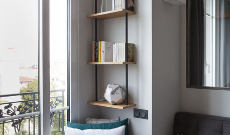Before & After: Clever Adjustments in a One-Bedroom Parisian Unit
