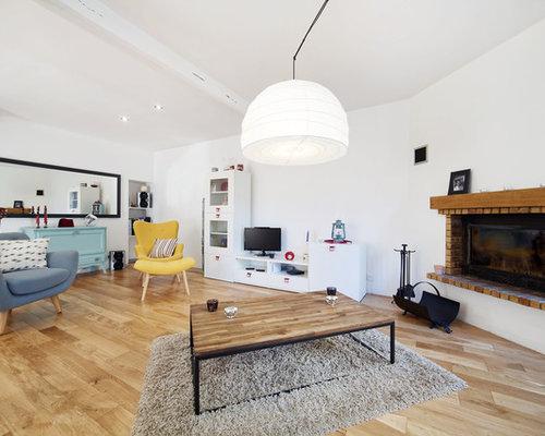 Salon avec une cheminée d'angle : Photos et idées déco de salons
