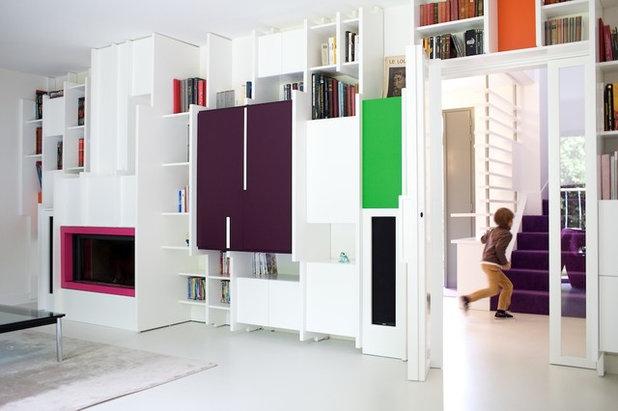 Contemporain Salon by Agnès & Agnès architecture