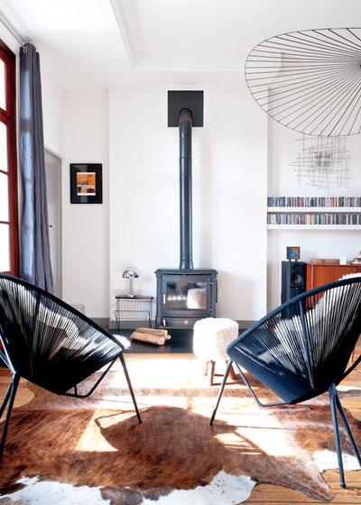 10 id es d co pour un salon vintage et cocooning. Black Bedroom Furniture Sets. Home Design Ideas