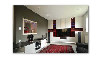Rénovation habitation - salon hifi-TV