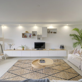 75 Beautiful Transitional Living Room With A Tv Stand Pictures Ideas March 2021 Houzz