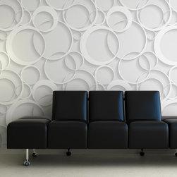 Rev tement mural en relief papiers peints 3d en textile l ger 300g m sans pvc collage avec - Papier peint ontwerp contemporain ...