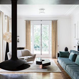 Idée de décoration pour un salon minimaliste.