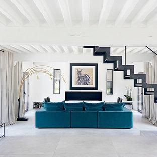 Wohnzimmer mit Gaskamin in Paris Ideen, Design & Bilder | Houzz