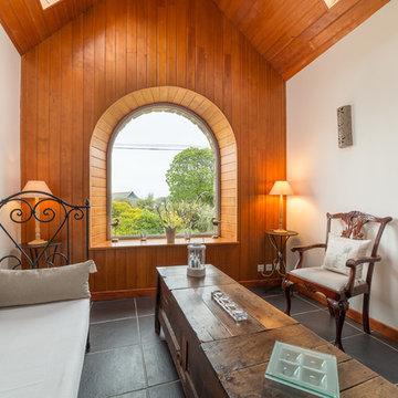 Salon dans une résidence de vacances pleine de charme