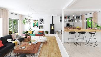 """Salon et dining et coin """"cozy"""""""
