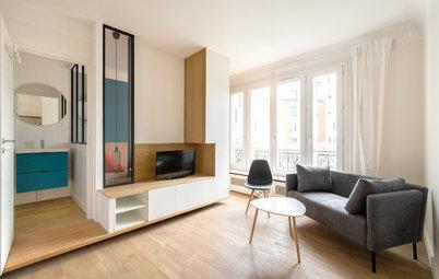 Avant/Après : Un meuble multifonction pour structurer un studio